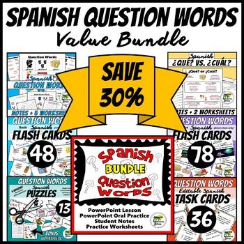 Spanish Question Words Value Bundle