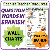 Spanish Question Words Wall Charts