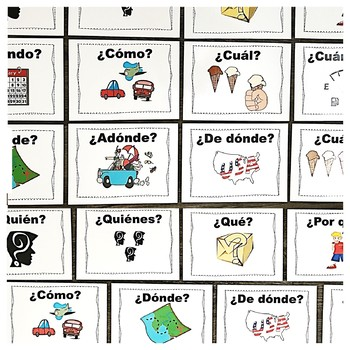 Spanish Question Words Word Wall