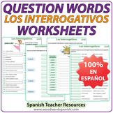 Spanish Question Words Worksheets
