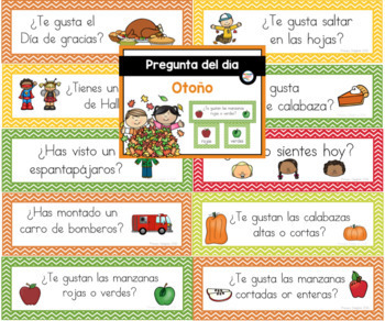 Spanish: Question of the Day Four Seasons Bundle (Sign-in Sheets)