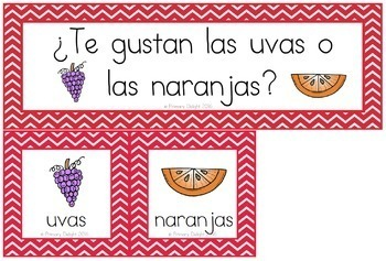 Spanish: Question of the Day for Beginning Readers (Pocket Chart Cards)