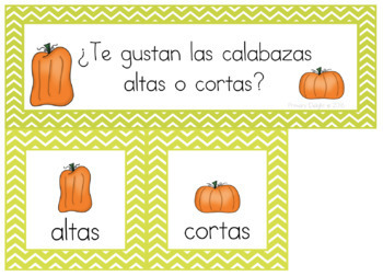 Spanish: Question of the Day for Beginning Readers - Fall/Autumn Version