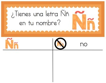 Spanish: Question of the Day for Beginning Readers - Letras en mi nombre