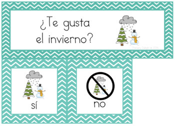 Spanish: Question of the Day for Beginning Readers - Winter Version