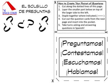 Spanish Questions Activity (El Bolsillo de Preguntas)