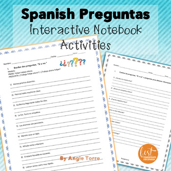 Spanish Questions Las preguntas Activities