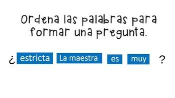 Spanish Questions Las preguntas Google Drive and INB Activities