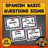 Spanish Classroom Commands, Spanish Classroom Decor, Decorations