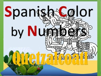 Spanish Quetzalcoatl Color by Numbers