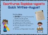 Spanish Quick Writes-Escrituras Rapidas Para Kinder y Prim