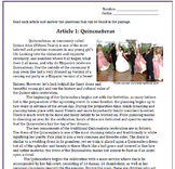 Spanish Quinceañeras: Reading and Substitute Plan