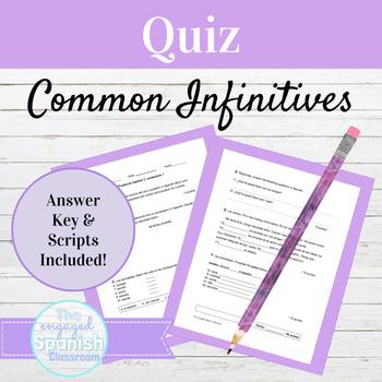 Spanish Quiz Expresate 1 Chapter 3 Vocab 1: Common Spanish Infinitives & Hobbies