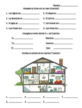 Spanish - Quiz - House and Chores