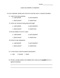 Spanish Quiz - Preterit & Imperfect (version 2)