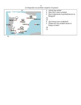 Spanish - Quiz - Weather Calendar