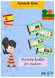 Spanish Quiz end of year for beginners booklet