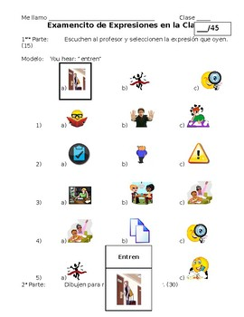 Spanish Quiz on Class Commands