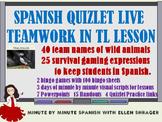 Spanish Quizlet Live Game Teamwork in Target Language Lesson #teachmorespanish