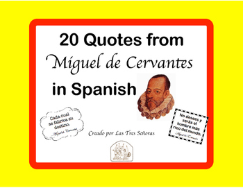 Spanish Quotes: 20 Posters of Cervantes Quotes in Spanish