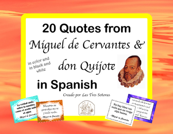 Spanish Quotes: 20 Posters of don Quijote & Cervantes Quotes in Spanish