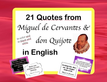 Spanish Quotes: 21 Posters of don Quijote & Cervantes Quotes in English