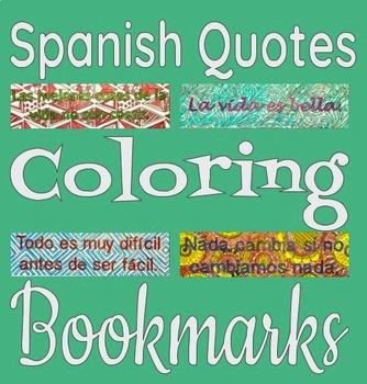 Spanish Quotes Bookmarks