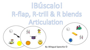 Spanish R Articulation Game. BÚSCALO!