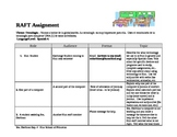 Spanish R.A.F.T. activity for vocabulary on technology and