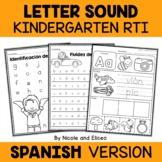 Spanish Kindergarten RTI Letter Sounds