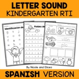 Spanish Kindergarten RTI Letter Sounds