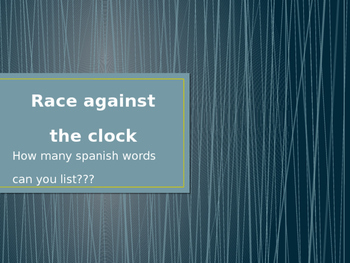 Spanish: Race Against the Clock