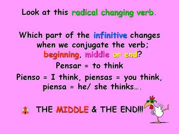 Spanish Teaching Resources. Radical Changing Verbs Introduction PowerPoint