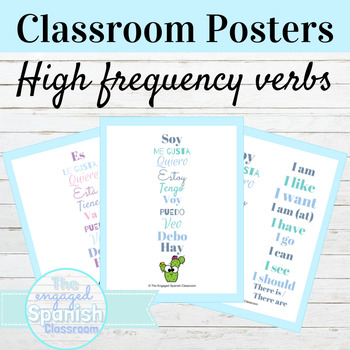 Spanish High Frequency Verbs Classroom Posters