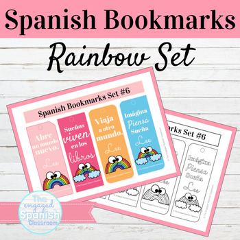 Spanish Rainbow Bookmarks