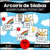 Spanish: Rainbow Theme Syllable Learning Station