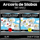 Spanish: Rainbow Theme Syllable Learning Station Set 1 and