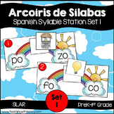 Spanish: Rainbow Theme Syllable Learning Station