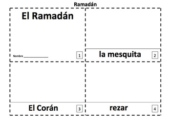 Spanish Ramadan 2 Emergent Reader Booklets