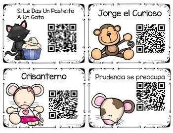 Spanish QR Codes Listening Center