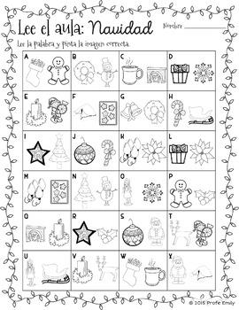 Spanish Read / Write the Room: Christmas