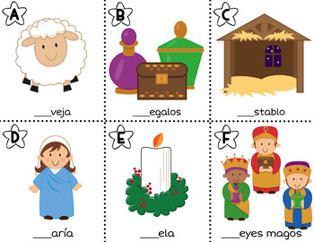 Spanish Read / Write the Room: Religious Christmas