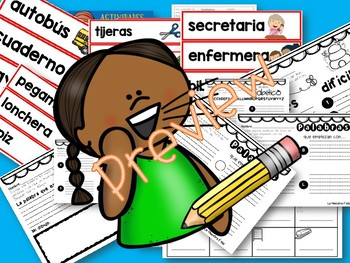 Spanish Read and Write the Room / Leer y escribir el salon Agosto y Sept