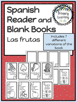 Spanish Reader and Blank Books - Las frutas