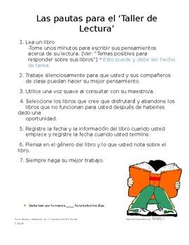Spanish Reader's Notebook