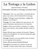 Spanish Reader's Theater: La Liebre y la Tortuga-Fabulas