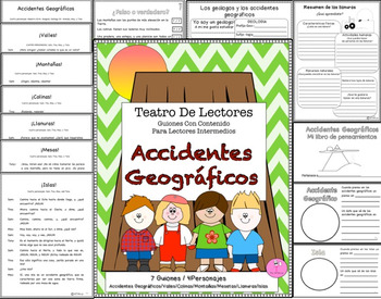 Spanish Reader's Theater Script: Landforms, Reading-Science