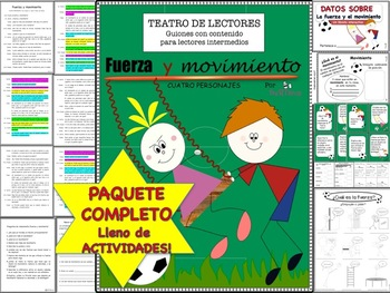 Spanish Reader's Theater Script: Force and Motion, Full Pack with Activities