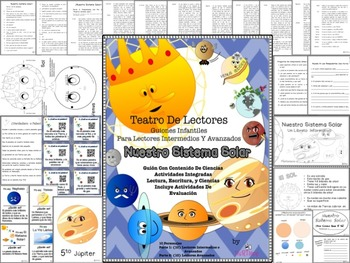 Spanish Reader's Theater Script: Our Solar System, Planets one by one,Activities