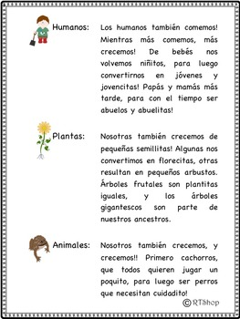 Spanish Reader's Theater Script: Reading-Science, Living And Nonliving Things
